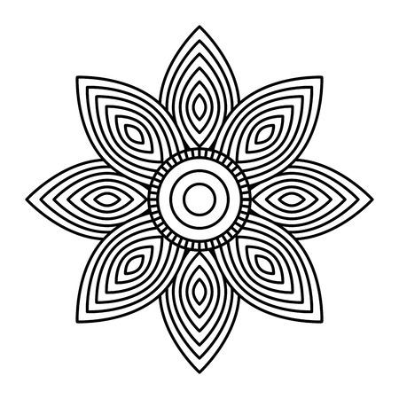 mandala flower decorative ethnic element adult coloring design vector illustration