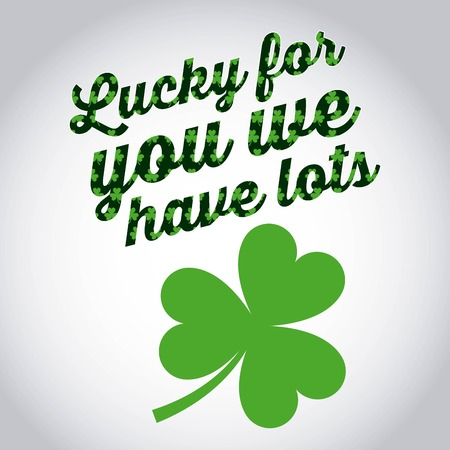 lucky for you we have lots st patricks day green beer banner vector illsutration Ilustração