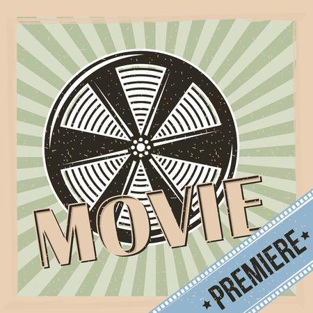 movie premiere reel film and stripes background vintage