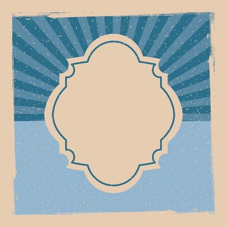 vintage design template with label stripes banner vector illustration Reklamní fotografie - 93702540