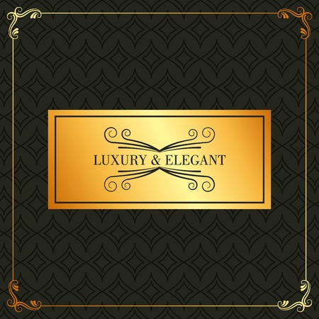 luxury and elegant golden placard flourishes frame decoration vector illustration Иллюстрация