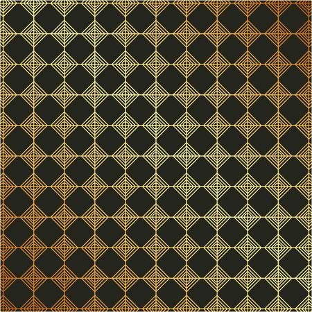 Golden metallic background with geometric pattern elegant luxury style vector illustration Vettoriali