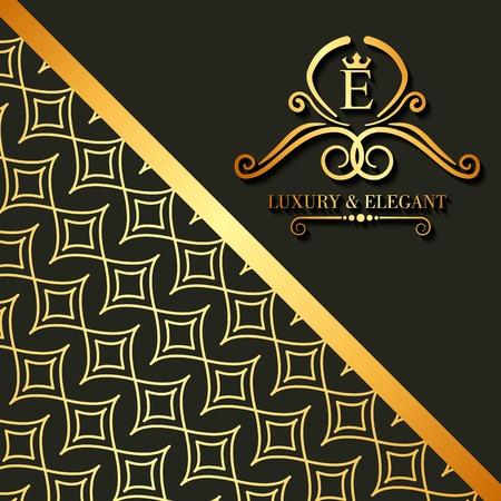 Luxury and elegant floral golden abstract card vector illustration Foto de archivo - 93679412