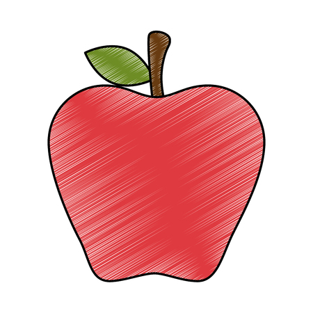 fresh apple fruit icon vector illustration design