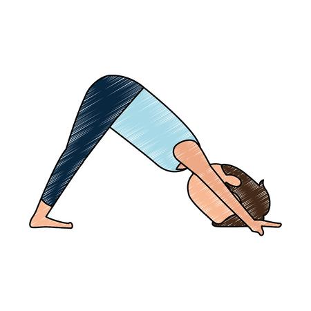 man practicing yoga avatar vector illustration design