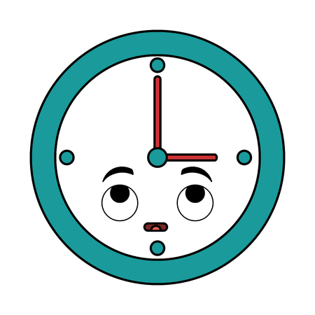 Time clock character vector illustration design