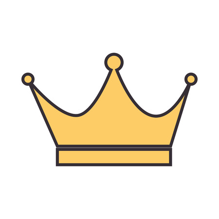 king crown isolated icon vector illustration design Stock Vector - 93693111