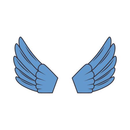ontwerp van de vleugels het open geïsoleerde pictogram vectorillustratie