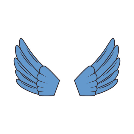 wings open isolated icon vector illustration design Imagens - 93694180