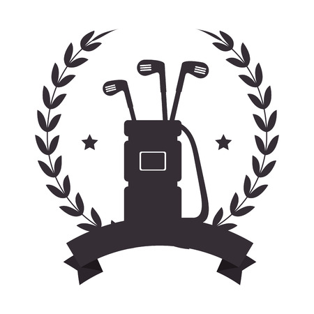 Golf bag with clubs emblem vector illustration design.
