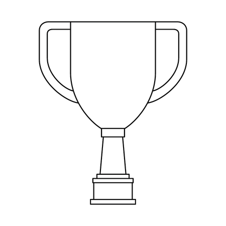 Trophy cup championship award vector illustration design.