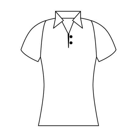 Golf shirt uniform icon vector illustration design.