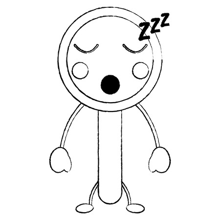 Sleep magnifying glass icon image. Vector illustration design.