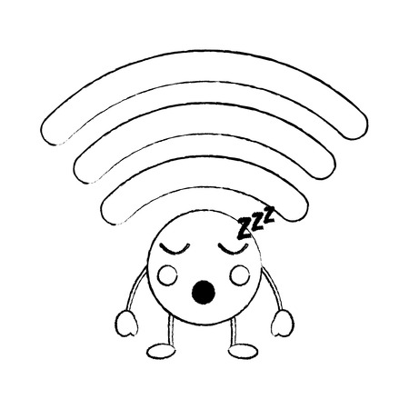 Wifi sleep icon image. Vector illustration design.