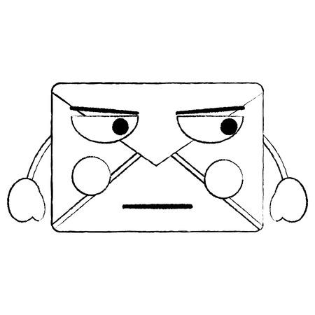 화가 메시지 봉투 아이콘 이미지입니다. 벡터 일러스트 레이 션 디자인.