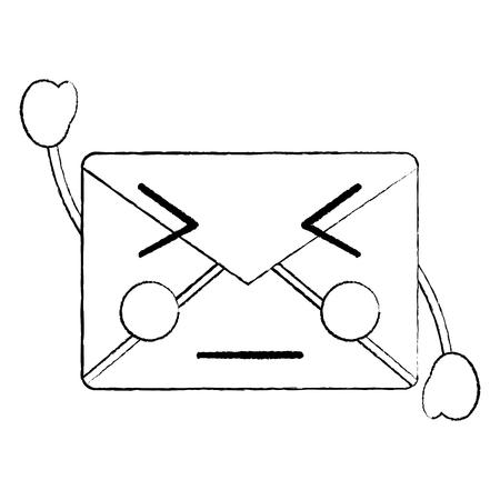 화가 메시지 봉투 아이콘 이미지입니다. 벡터 일러스트 레이 션 디자인. 스톡 콘텐츠 - 93693397