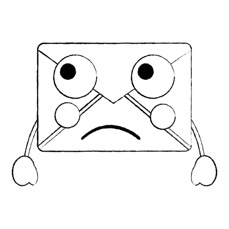 Sad message envelope icon image. Vector illustration design.