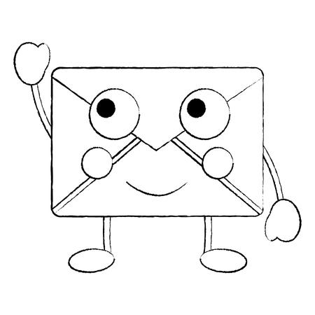 Happy message envelope icon image. Vector illustration design. Ilustração