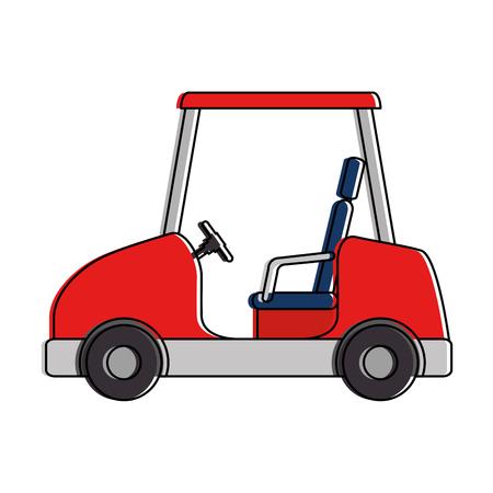 Golf auto geïsoleerd pictogram vector illustratie ontwerp Stock Illustratie