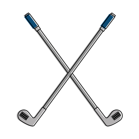 Golf clubs accessory icon vector illustration design 向量圖像