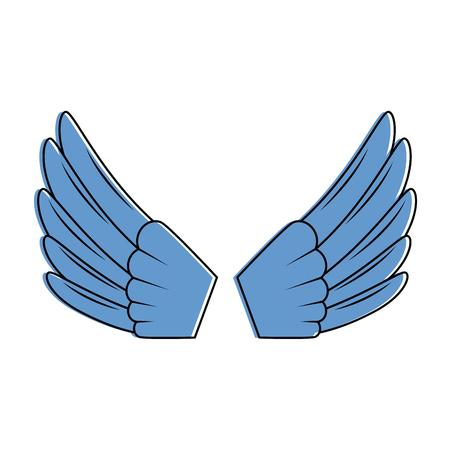 Le ali aprono la progettazione isolata dell'illustrazione di vettore dell'icona Archivio Fotografico - 93686858