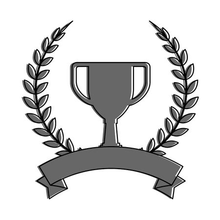 Trophy cup emblem Ilustração