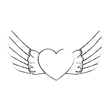 asas abrem isolado ícone vector ilustração design
