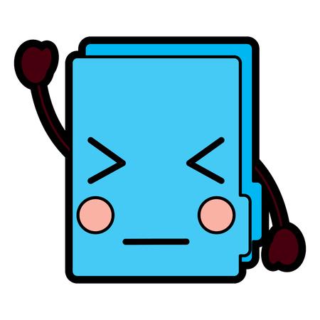folder document cute cartoon vector illustration