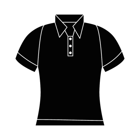 golf shirt uniform icon vector illustration design