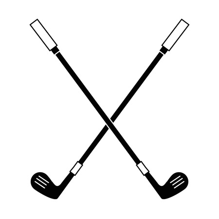 golf clubs accessory icon vector illustration design Çizim