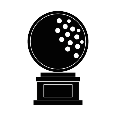 golf ball championship award icon vector illustration design Illustration