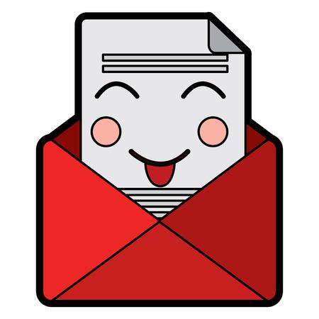 メール封筒レターメッセージ漫画ベクトルイラストデザイン