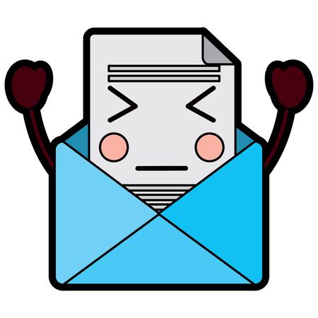 이메일 봉투 편지 메시지 만화 벡터 일러스트 레이션 디자인 스톡 콘텐츠 - 93716569
