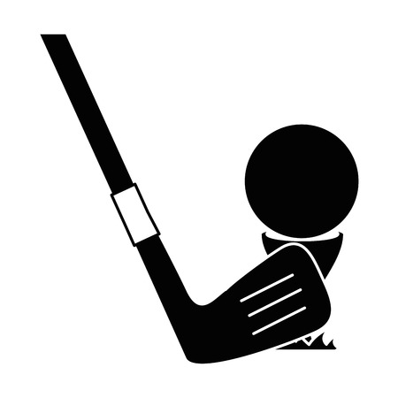 golf ball accessory with club vector illustration design