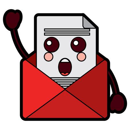 email envelope letter message cartoon vector illustration design