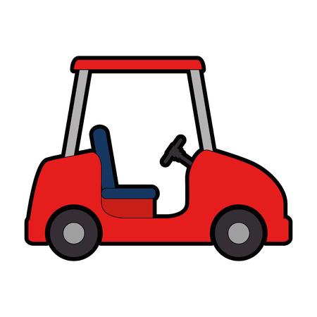 ontwerp van de het pictogram vectorillustratie van de golfwagen het geïsoleerde