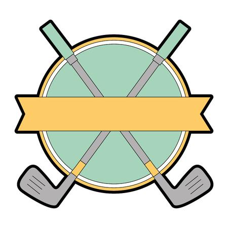 golf clubs elegant emblem vector illustration design Ilustração