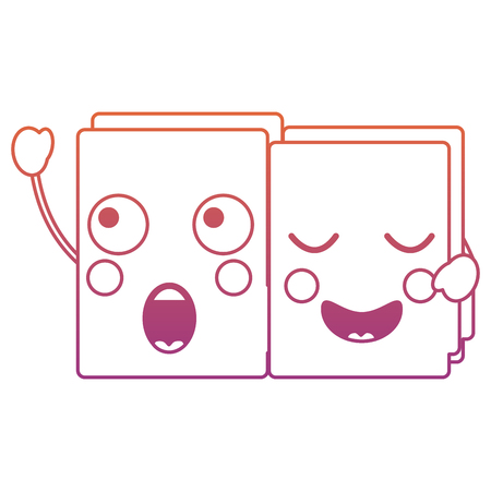 file folders   icon image vector illustration design red to purple ombre line