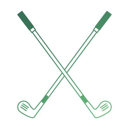 golf clubs accessory icon vector illustration design Ilustrace