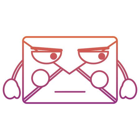 mail envelope   character cartoon vector illustration blur line gradient design