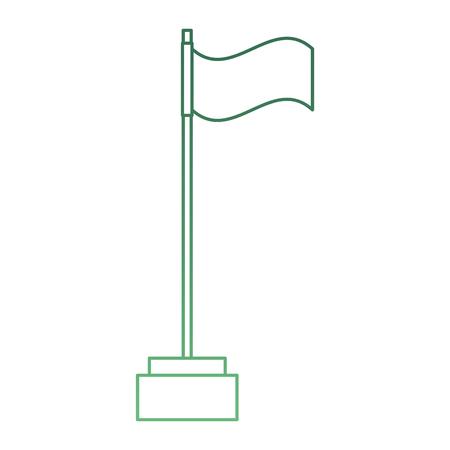 ゴルフフラグ分離アイコンベクトルイラストデザイン 写真素材 - 93727756