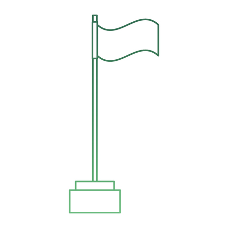 golf flag isolated icon vector illustration design