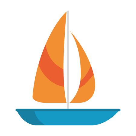sailboat summer isolated icon vector illustration design Illustration