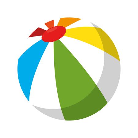 Plastikballonstrandikonenvektor-Illustrationsdesign Standard-Bild - 93755842
