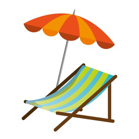 Strandstoel met paraplu vectorillustratie ontwerp Stockfoto - 93727715