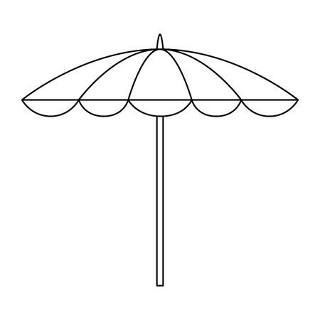 Beach umbrella isolated icon vector illustration design