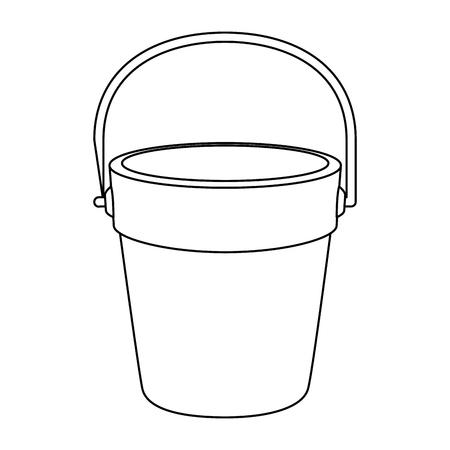 Ontwerp van de het pictogram het vectorillustratie van de zandemmer Stock Illustratie
