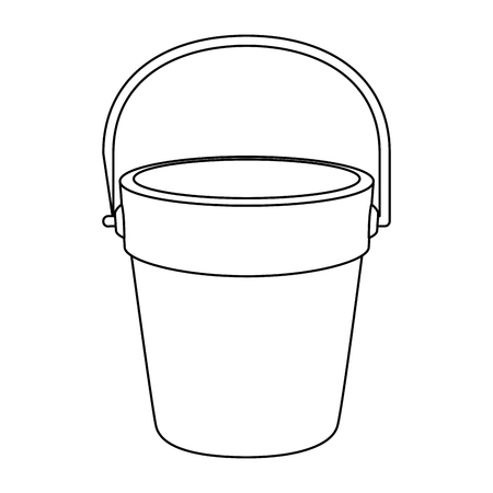 Sand bucket icon vector illustration design