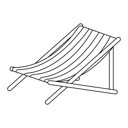 ビーチチェア×アイコンベクトルイラストデザイン。