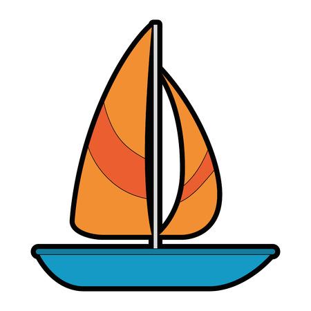 Het zeilboot geïsoleerde ontwerp van de pictogram vectorillustratie